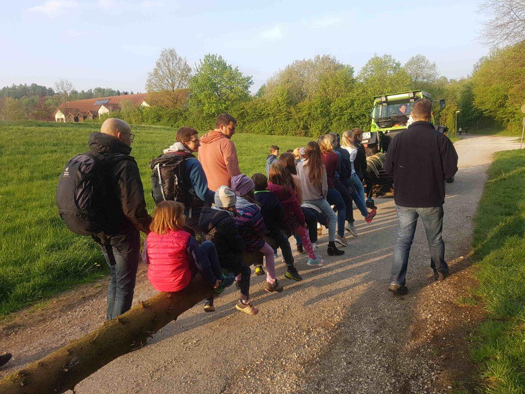 Auf dem Weg zu Kindergarten Arche Noah